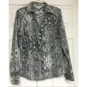 Calvin Klein No Iron Button Up Shirt Python Snake